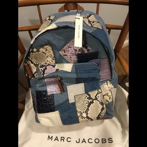 Marc Jacobs denim patchwork backpack